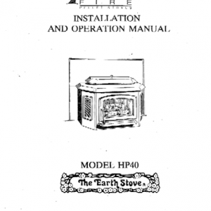 The Earth Stove Manual