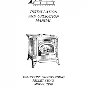 Traditions Freestanding Stove Manual